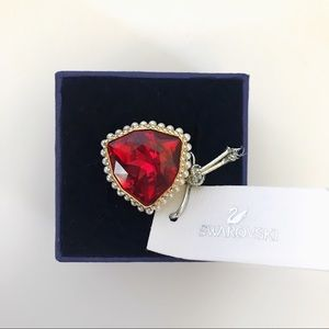 Swarovski Lucky Goddess Cocktail Ring Red/Gold